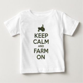 Camouflage behalten Ruhe und Bauernhof an Baby T-shirt