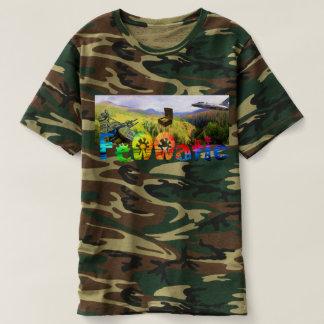 Camouflage Fennatic Regenbogen-Schatz-Jäger T-shirt