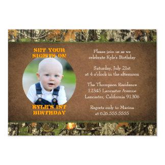Camouflage-Geburtstags-Jungen-Foto-Einladungen