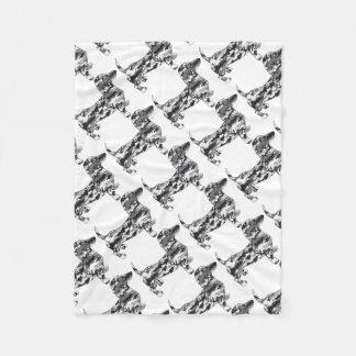 Camouflage-Grau-Dackel Fleecedecke