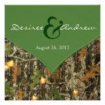 Camouflage-Hochzeits-Einladungen