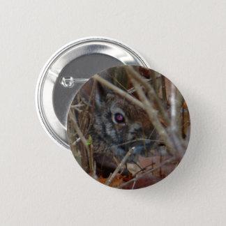Camouflage-Kaninchen Runder Button 5,7 Cm