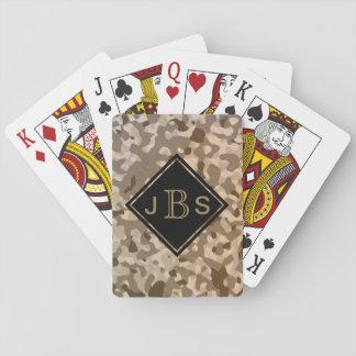 Camouflage-Militär tarnt für Soldaten oder Jäger Spielkarten