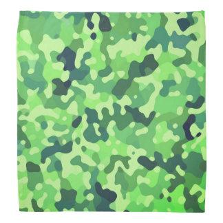 Camouflage-Muster - grün-blaues Schwarzes Kopftuch
