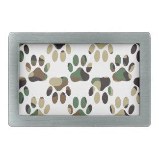 Camouflage-Muster-Hundetatzen-Druck Rechteckige Gürtelschnallen