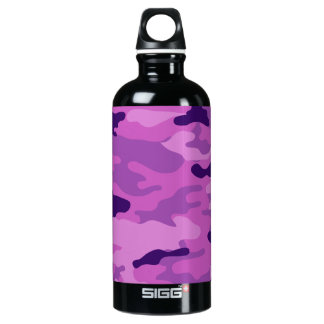 Camouflage-Purpur-Freiheit Bottleworks Aluminiumwasserflasche