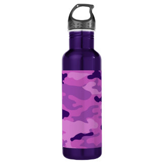 Camouflage-Purpur-Freiheit Bottleworks Trinkflasche