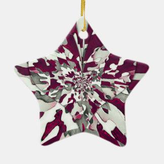 Camouflage-Spritzen Keramik Stern-Ornament