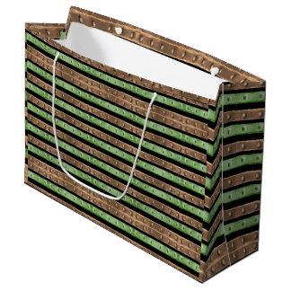 Camouflage-Streifen-Druck Große Geschenktüte
