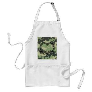 Camouflage-Twining Herz Schürze