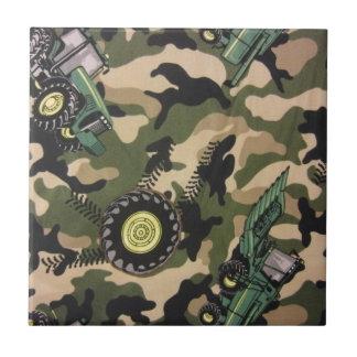 Camouflage u. Traktoren Keramikfliese