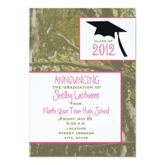 Camouflage u. zacken Abschluss-Mitteilung 2012 aus 12,7 X 17,8 Cm Einladungskarte