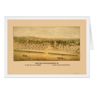 Camp Casey und Fort Lincoln nahe Bladensburg 1861 Karte