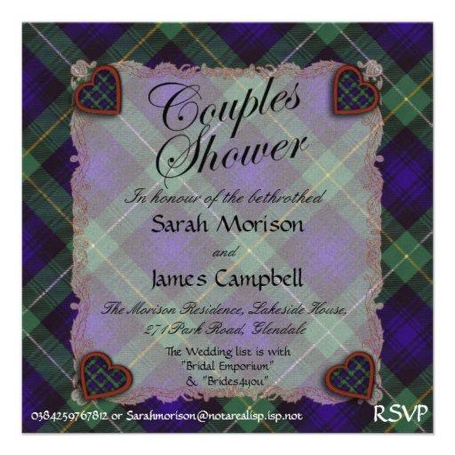 Campbell von Cawdor Tartan kariert - Paardusche Ankündigungskarte