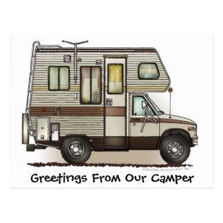 Camper RV-Postkarten der Klassen-C Postkarte