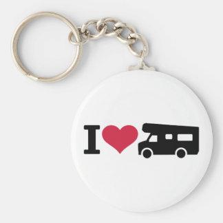 Camping der Liebe I - Camper Standard Runder Schlüsselanhänger