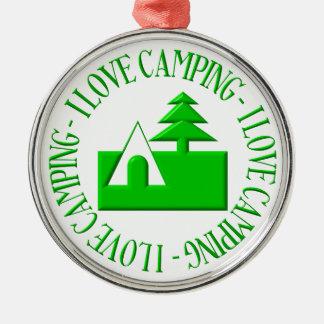 Camping der Liebe I Silbernes Ornament