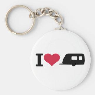 Camping der Liebe I - Wohnwagen Standard Runder Schlüsselanhänger
