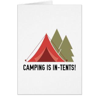 Camping ist Absichten! Grußkarte