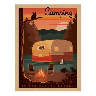 Camping ist für Natur-Liebhaber Postkarten