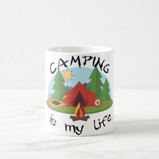 Camping ist mein Leben-Zelt und Wald Kaffeetasse