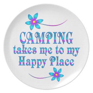 Camping mein glücklicher Platz Melaminteller