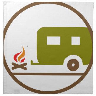 Camping RV-Anhänger und -lagerfeuer Serviette