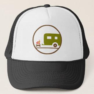 Camping RV-Anhänger und -lagerfeuer Truckerkappe