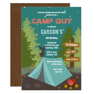 Campings-Geburtstag kampieren heraus Einladung
