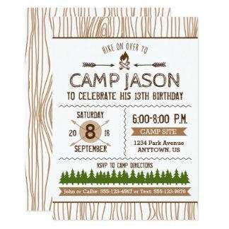 Campings-Geburtstags-Einladung 12,7 X 17,8 Cm Einladungskarte