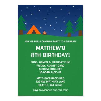 Campings-Geburtstags-Party Karte