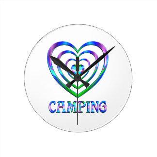 Campings-Herzen Runde Wanduhr