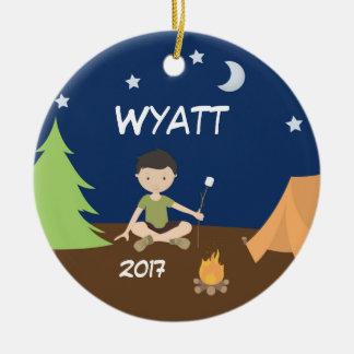 Campings-Jungen-Camper-Nachthimmel-Zelt-Verzierung Keramik Ornament