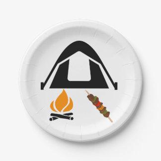 Campings-PapierTeller Pappteller