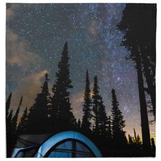 Campings-Stern-Licht-Stern hell Stoffserviette