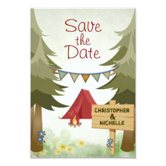 Campings-Waldland Save the Date, das Mitteilung Karte