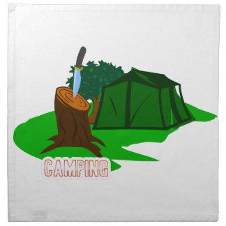 Campingsmesser und -zelt stoffserviette