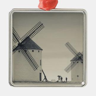 Campo de Criptana, antike La Mancha Windmühlen 2 Silbernes Ornament