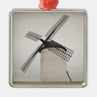 Campo de Criptana, antike La Mancha Windmühlen 3 Silbernes Ornament