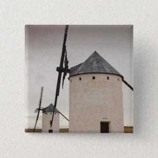Campo de Criptana, antike La Mancha Windmühlen 5 Quadratischer Button 5,1 Cm