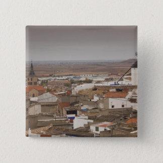 Campo de Criptana, antike La Mancha Windmühlen 6 Quadratischer Button 5,1 Cm