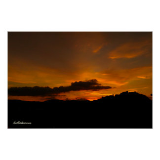 Campobasso, UNO tramonto! Poster