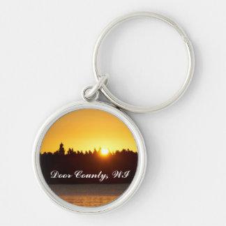 Cana Insel-Leuchtturm, Door County, WI Keychain Schlüsselanhänger