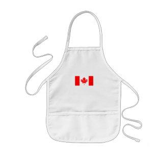 Canad Flagge mit Gläsern auf Ahorn Kinderschürze