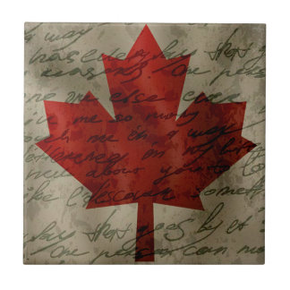 Canadean Flagge Kleine Quadratische Fliese