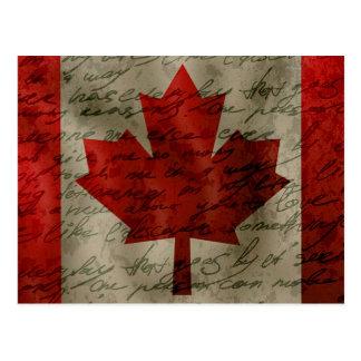 Canadean Flagge Postkarte