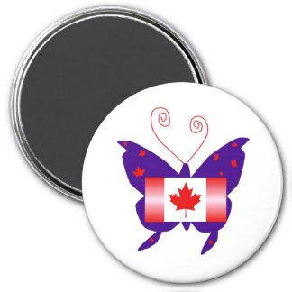 Canadian Diva Butterfly Fridge Magnet