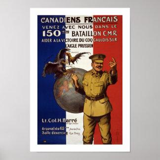 Canadiens Francais (weiß) Poster