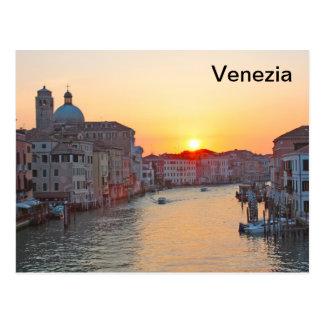 Canal Grande Venedig - Sonnenaufgang Postkarte