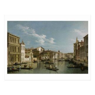 Canal Grande von Palazzo Flangini zu Palazzo Bembo Postkarte